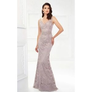 MINTAGE BY MON CHERI EMBROIDERED GOWN